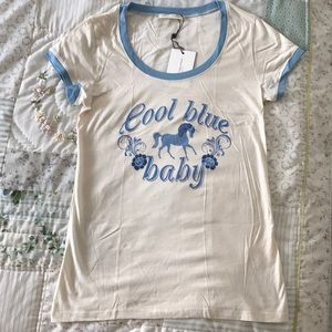 Spell Designs Cool Blue Baby Tee